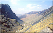 NY2114 : View West from summit of Honister Pass by Derek Voller