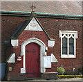 SJ6760 : Minshull United Reformed Church: detail by Espresso Addict