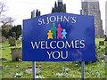 TM3862 : St.John the Baptist Church sign by Geographer