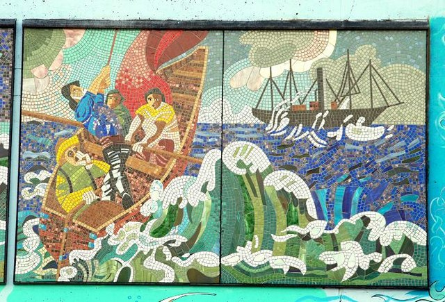 Mosaic, Newcastle harbour (1)