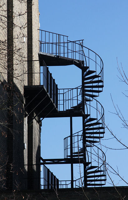 Exterior spiral staircase, Brookside