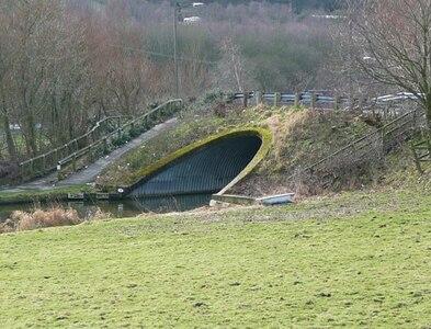 SE0226 : Moderna Way canal bridge, Mytholmroyd by Humphrey Bolton