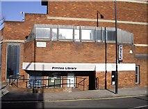 TQ2978 : Pimlico Library Entrance by PAUL FARMER