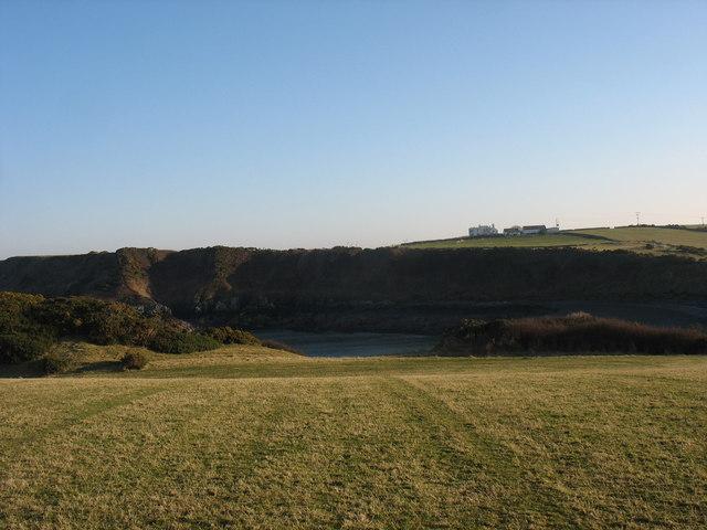 View across the head of Porth yr Wylfa towards Park Lodge