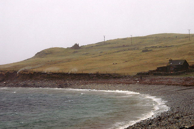 Westing beach in a south-west gale