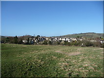 SP0228 : Winchcombe viewed from the east side of the River Isbourne. by Jeremy Bolwell