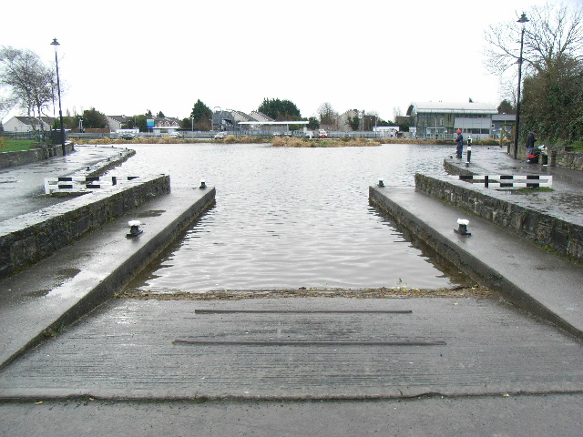 Slipway at the Royal Canal basin in Maynooth, Co. Kildare
