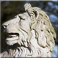 NU1913 : Lion at Percy Column Alnwick by Mark Evans