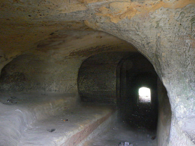 Tunnel in Church (Rock) Cemetery by Alan Murray-Rust