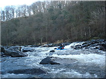 NY2824 : Broken weir above Briery by Andy Waddington