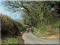 ST2234 : Narrow muddy lane by Ken Grainger