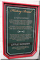 SE2956 : History Board at The Little Wonder by Keith Edkins