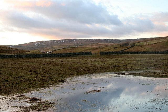 Waterlogged field at Harwood