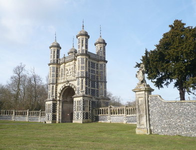 TR0145 : The gatehouse to Eastwell Park viewed from the A251 by pam fray