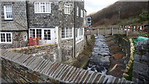 SX0991 : River flowing through Boscastle by Mike Dodman