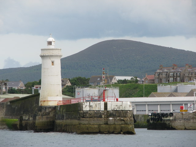 Buckie Harbour and Bin Hill