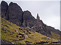 NG5053 : Path to The Storr - Needle Rock by Richard Dorrell