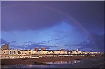 TQ3103 : Rainbow over Brighton Beach by Christine Matthews