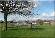 SE1321 : Playground off Burnsall Road, Rastrick by Humphrey Bolton