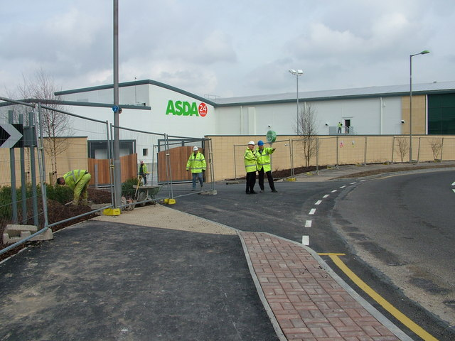 Bury St. Edmunds Asda delivery entrance