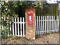 TM4266 : Four Crossways Victorian Postbox by Adrian Cable