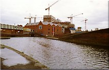 SP0586 : Symphony Hall being Built, View from Canal 1989 by Roy Hughes
