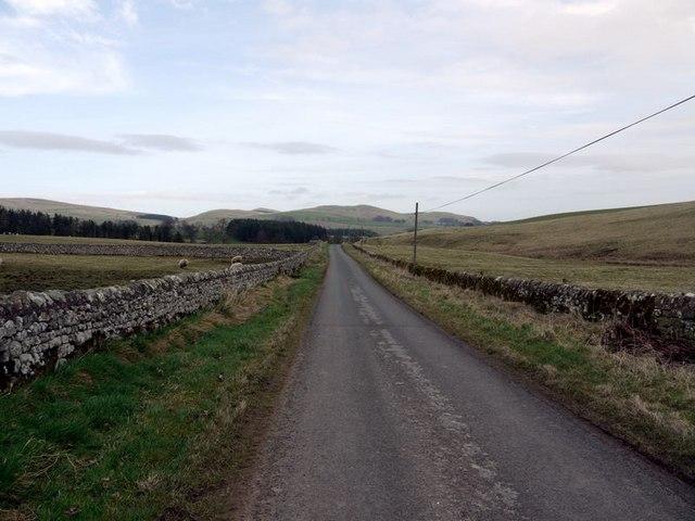 Minor road near Alnham House