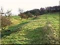 NY8871 : The north defensive ditch of Hadrian's Wall west of Milecastle 29 (2) by Mike Quinn