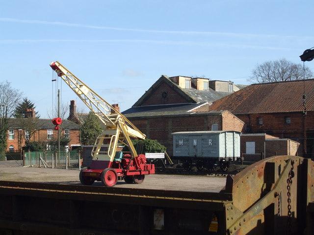 Horace the crane and Dereham goods yard