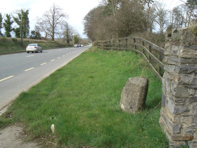 Milestone on the N2 at Rathfeigh, Co. Meath