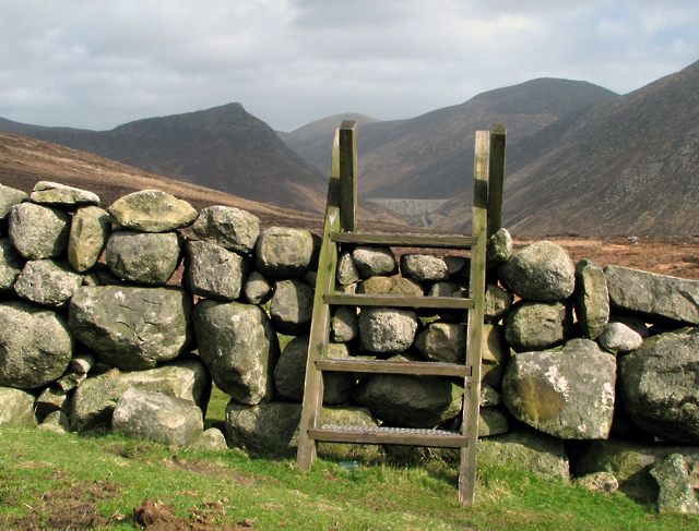 Stile over the Mourne Wall near Slievenaglogh