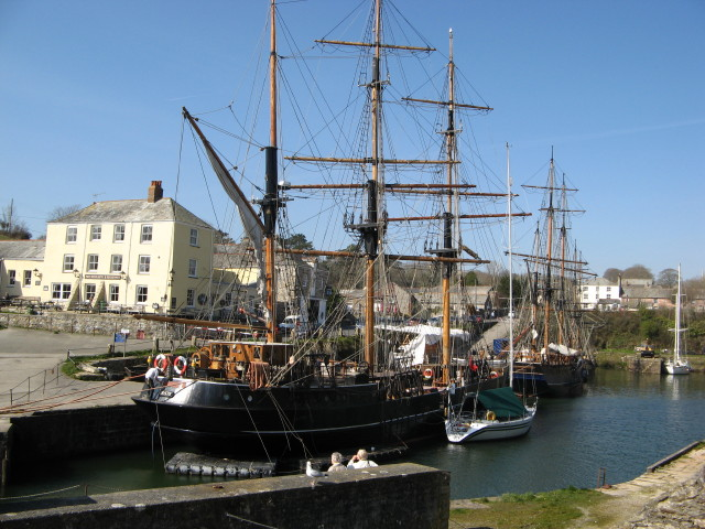 Tall Ships in Charlestown Harbour