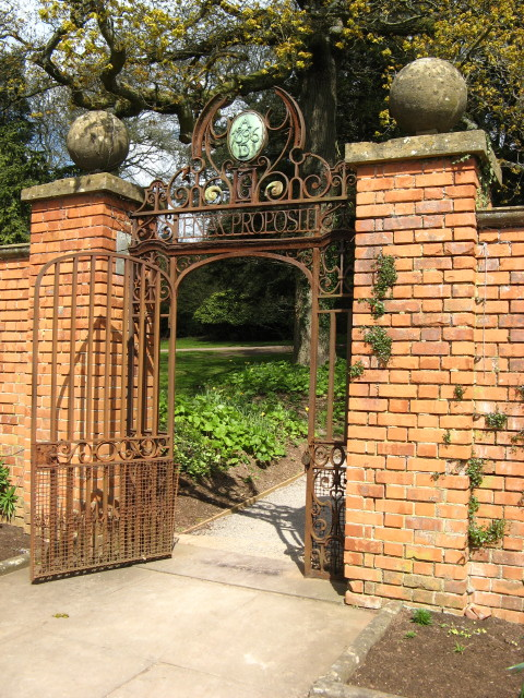 Tyntesfield: Ornate Entrance Gate to the garden