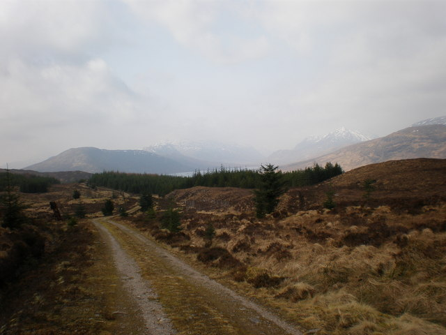 Track heading towards Loch Loyne