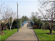 SU9850 : Bridge over railway from university campus by Nick Smith