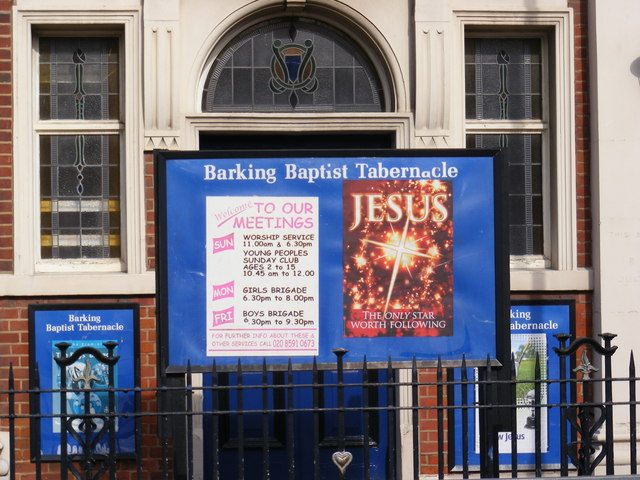Barking Baptist Tabernacle Sign