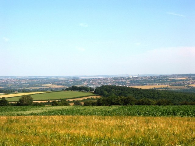 View from High Hoyland over to Barnsley