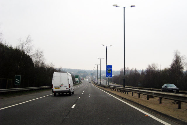 A20 past Swanley