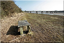 SD3641 : Picnic Table by River Wyre by Bob Jenkins