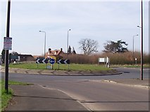 TQ6749 : Roundabout on A228 by David Anstiss