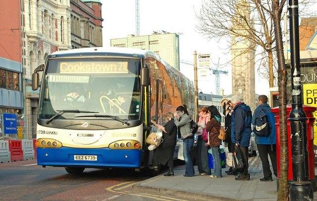 Evening peak bus, Belfast (6)