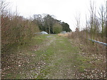 TR3051 : Approach to bridge over the A256 at Tilmanstone by Nick Smith