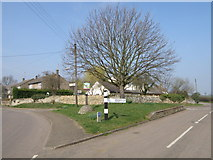 TL0394 : Woodnewton road junction by Michael Trolove