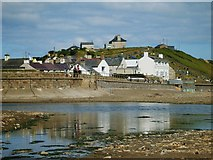 SH1726 : A view of Aberdaron from the beach by robert brookes