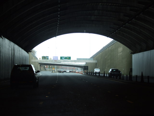 Exit from Kingsway Tunnel