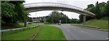 SS9612 : Tiverton : Heathcoat Way Footbridge by Lewis Clarke