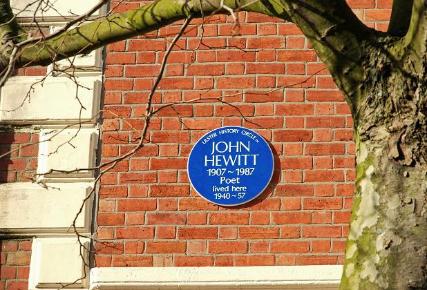 Hewitt plaque, Belfast