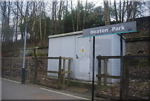 SD8203 : Danger of Death, Heaton Park Metrolink Station by N Chadwick