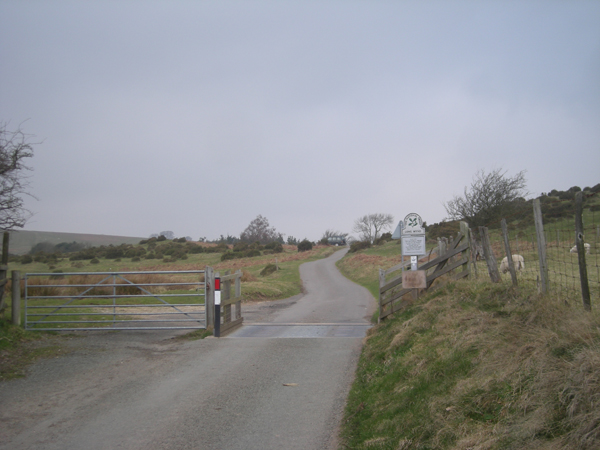 Cattle grid and gate at National Trust boundary