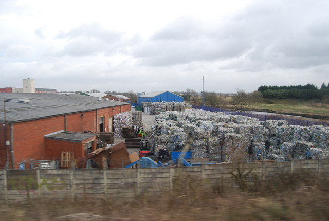 Bales of paper to recycle